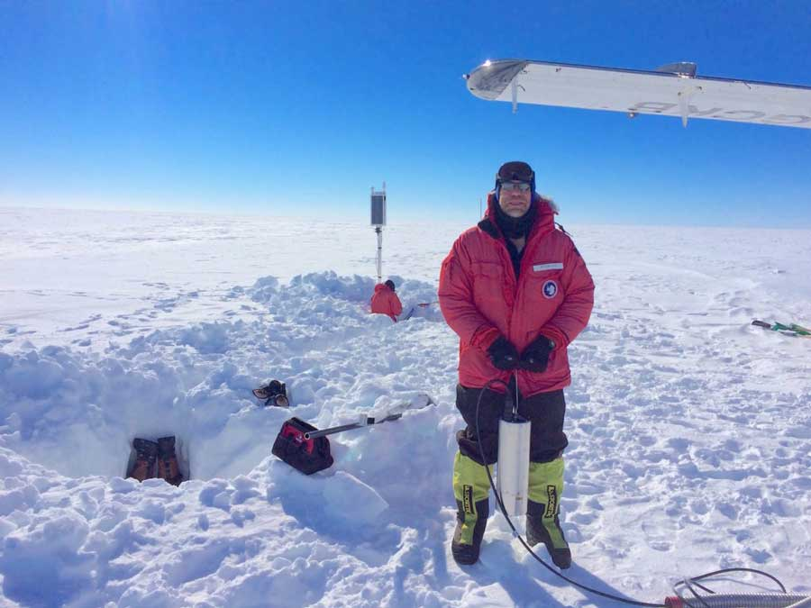 Rick Aster working in the Arctic